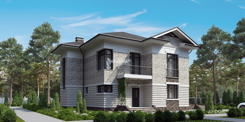Стильный загородный дом на один этаж - DOM4M Россия