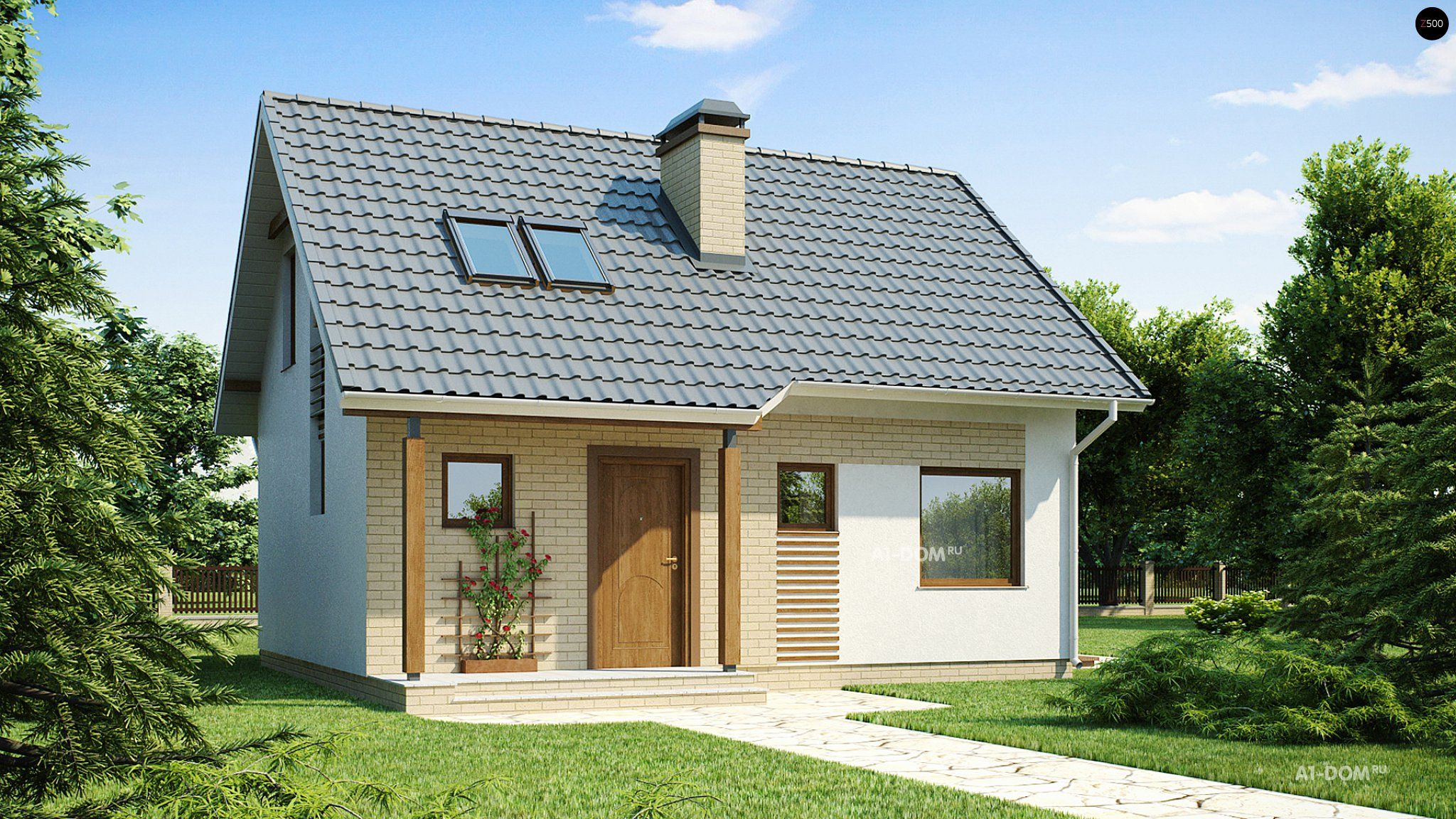 Projects house up to 100m2 from foam blocks