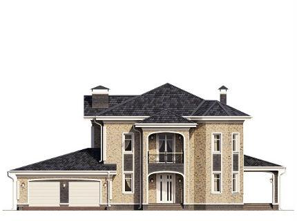 Проект частного загородного дома с жилой мансардой