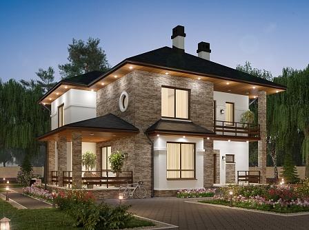 Проект дома из газосиликатных блоков «Альтенбург»