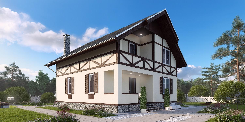 проекты домов из пеноблоков фото