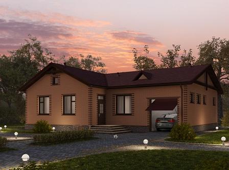 Готовые проекты одноэтажных домов из пеноблоков