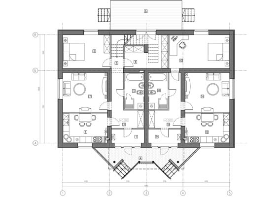 Проект Дачного дома с крыльцом - цена от 129990