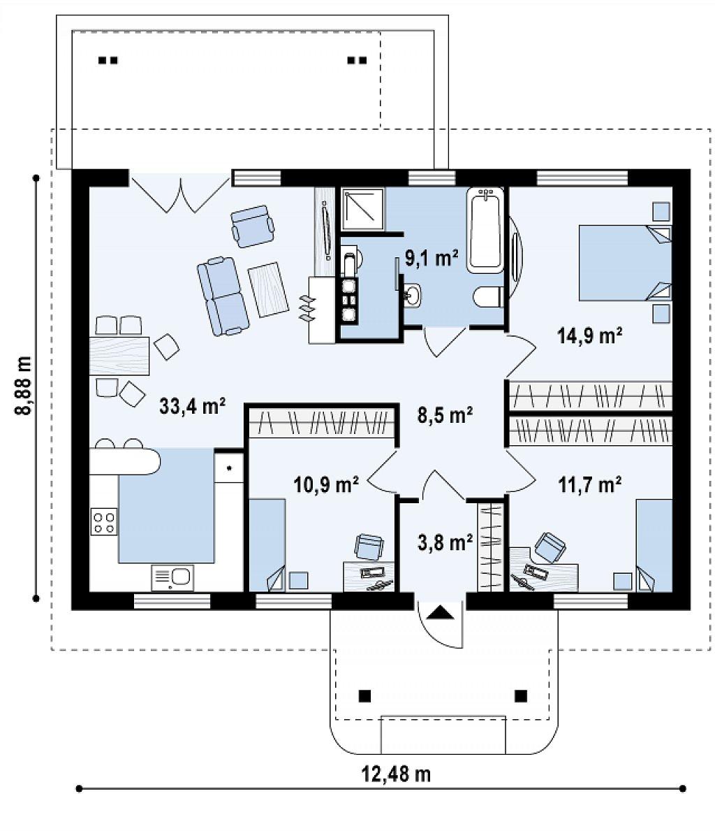 дома 1 этажные фото проекты